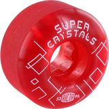 Ricta Super Crystals 53mm Clear Red Skateboard Wheels (Set of 4)