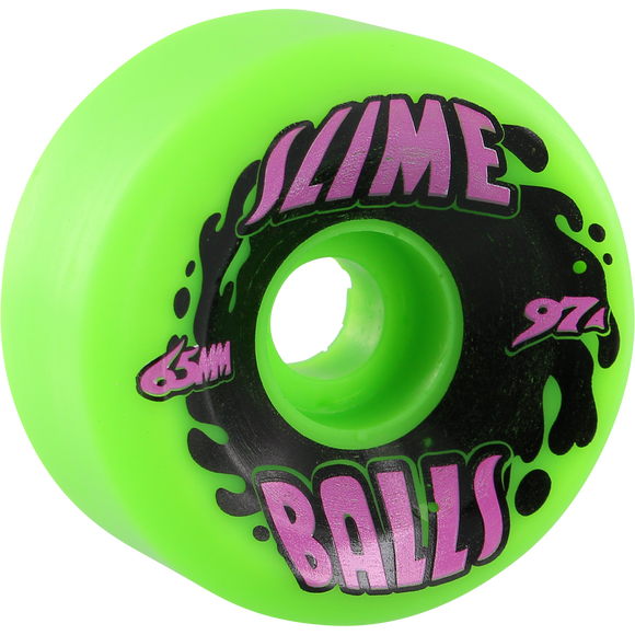 Santa Cruz Slimeballs Big Balls Splat 65mm 97a Green Longboard Wheels (Set of 4)