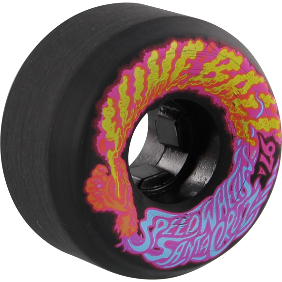 Santa Cruz Slimeballs Vomits Mini 54mm 97a Black Skateboard Wheels (Set of 4)