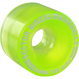 Sector 9 9 Ball 58mm 78a Clear Lime Skateboard Wheels (Set of 4) | Universo Extremo Boards Skate & Surf