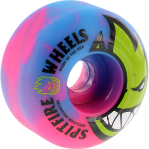 Spitfire Bighead Psyclone Swirl 54mm Blue/Pink/Green Skateboard Wheels (Set of 4) | Universo Extremo Boards Skate & Surf