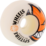 Spitfire Bighead 50mm White W/Org Skateboard Wheels (Set of 4)
