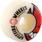 Spitfire Bighead 52mm White W/Red Skateboard Wheels (Set of 4)
