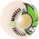 Spitfire Bighead 59mm White W/Green Skateboard Wheels (Set of 4)