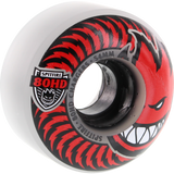 Spitfire 80hd Charger Classic 54mm Clear/Red Skateboard Wheels (Set of 4)