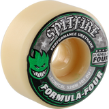 Spitfire Formula 4 101a Conical 52mm White W/Green & Black Skateboard Wheels (Set of 4) | Universo Extremo Boards Skate & Surf