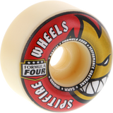 Spitfire F4 101a Radials 54mm White W/Red/Gold Skateboard Wheels (Set of 4)