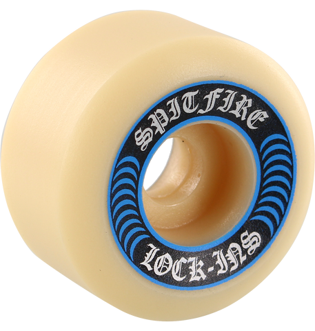 Spitfire F4 99a Lock Ins 53mm White W/Blu Skateboard Wheels (Set of 4)
