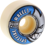 Spitfire F4 99a Radial 52mm White W/Blue/Sil Skateboard Wheels (Set of 4)