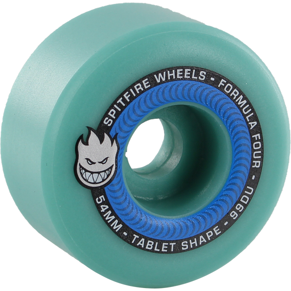 Spitfire F4 99a Tablet 54mm Ice Blue Skateboard Wheels (Set of 4)