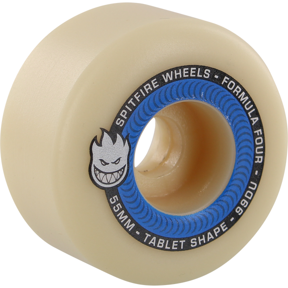 Spitfire F4 99a Tablet 55mm Natural/Blue Skateboard Wheels (Set of 4)