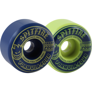 Spitfire F4 99a Conical Full 54mm Navy/Lime Mash Skateboard Wheels (Set of 4)