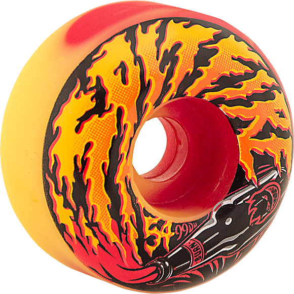 Spitfire Molotov 54mm Red/Yellow Swirl Skateboard Wheels (Set of 4) | Universo Extremo Boards Skate & Surf