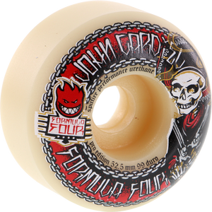 Spitfire Cardiel F4 Charro 52.5mm White Skateboard Wheels (Set of 4)