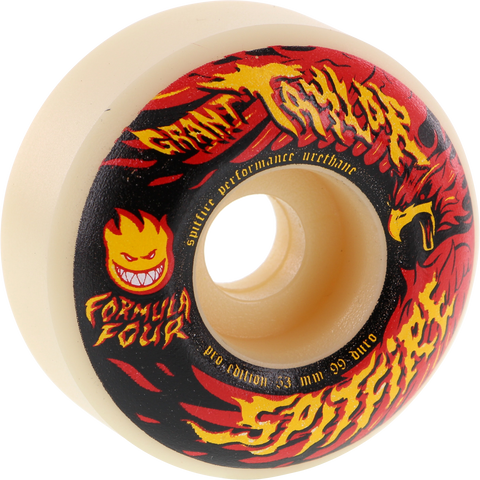 Spitfire G.Taylor F4 Resurgens 53mm White Skateboard Wheels (Set of 4)