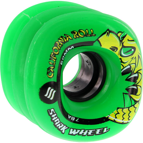 Shark California Roll 60mm 78a Green Skateboard Wheels (Set of 4) | Universo Extremo Boards Skate & Surf