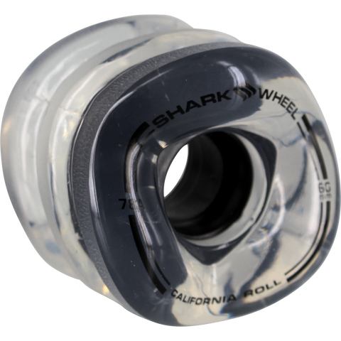 Shark California Roll 60mm 78a Clear W/Black Hub Skateboard Wheels (Set of 4)