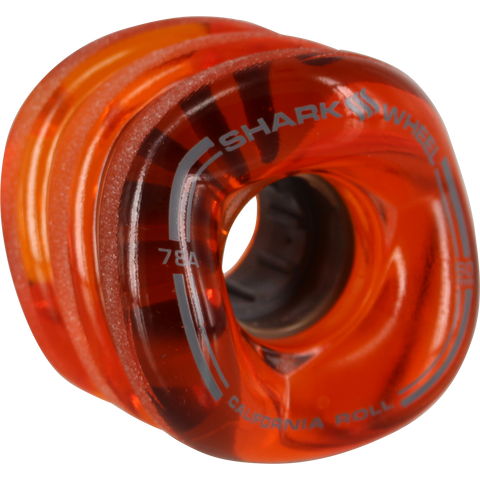 Shark California Roll 60mm 78a Trans.Lava Skateboard Wheels (Set of 4)