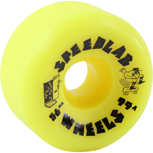 Speedlab Blast 56mm 99a Yellow Skateboard Wheels (Set of 4)