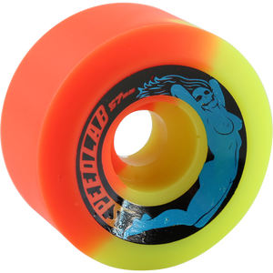 Speedlab Bombshells 57mm 99a Orange/Yellow Skateboard Wheels (Set of 4)