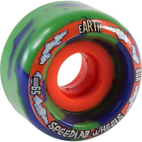Speedlab Globes 59mm 80a Blue/Green Swirl Skateboard Wheels (Set of 4)