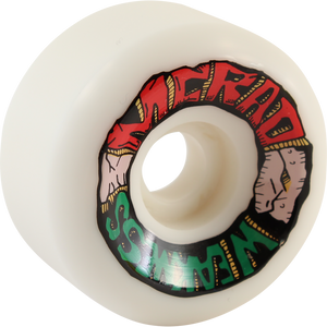 Speedlab Mcrad Weakness 60mm 101a White Skateboard Wheels (Set of 4)