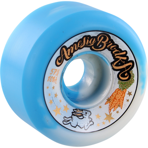 Speedlab Amelia Brodka 57mm 101a Blue/White Swirl Skateboard Wheels (Set of 4)