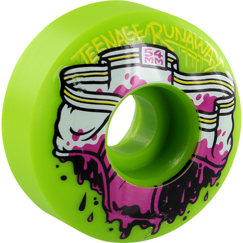 Teenage Runaway Dirty Unders 54mm Green Skateboard Wheels (Set of 4)