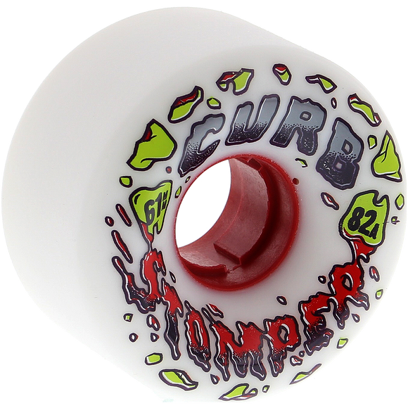 Venom Curb Stompers 61mm 82a White Longboard Wheels (Set of 4)