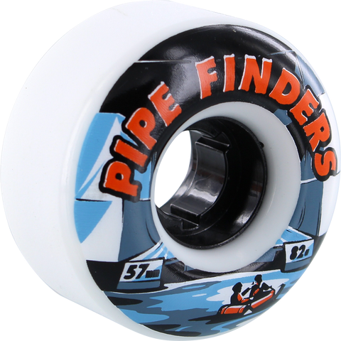 Venom Pipe Finders 57mm 82a White Skateboard Wheels (Set of 4)