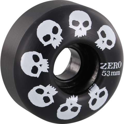 Zero Multi-Skull 53mm Black/White Skateboard Wheels (Set of 4)