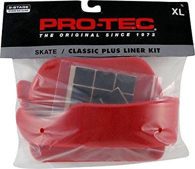Protec Classic Plus Liner Kit XS-Red Skateboard Helmet| Universo Extremo Boards