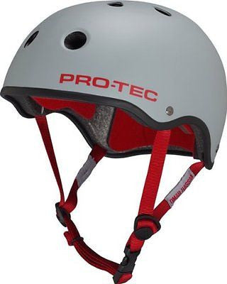 Protec Hassan Classic XS Grey/Red Skateboard Helmet| Universo Extremo Boards