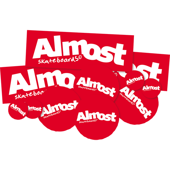 Almost Red 10 Pack Assorted Decals