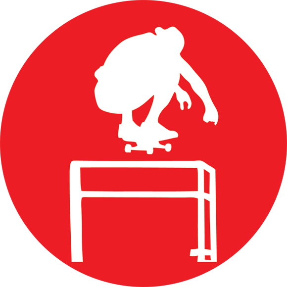 American Skateboard Bar Ollie Red Sticker Single |Universo Extremo Boards Skate & Surf
