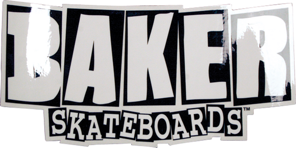Baker Brand Logo Small Decal Black/White 2x4