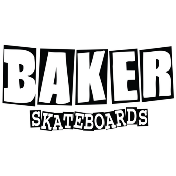 Baker Brand Logo Md Decal Black/White 4x8.5