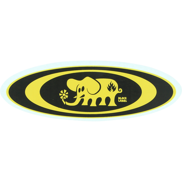 Black Label Oval Elephant Decal Single Assorted Single