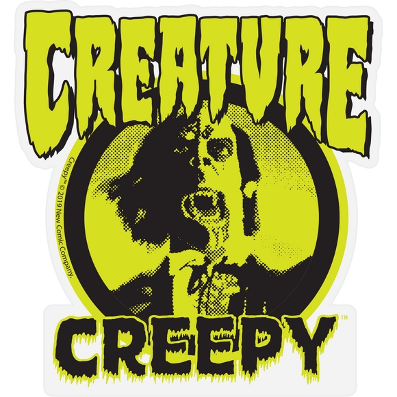 Creature x Creepy Mylar Decal 3.75x4