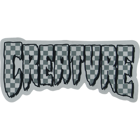 Creature Logo Check Foil Decal 2x4.25
