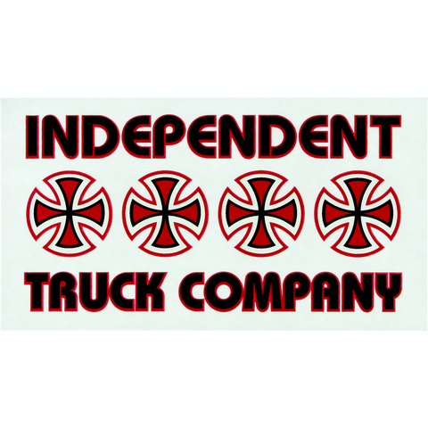 Independent Stacked Color Decal 5.5x3 Assorted