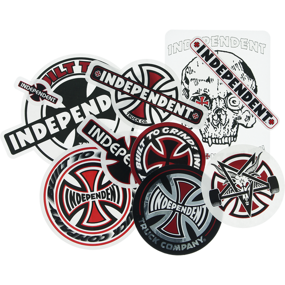 Independent 2019 10/Pack Assorted Decals