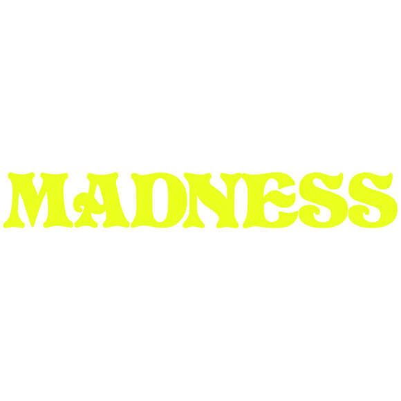 Madness Logo Decal Single Yellow