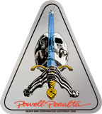 Powell Peralta Skull & Sword Decal Single |Universo Extremo Boards Skate & Surf
