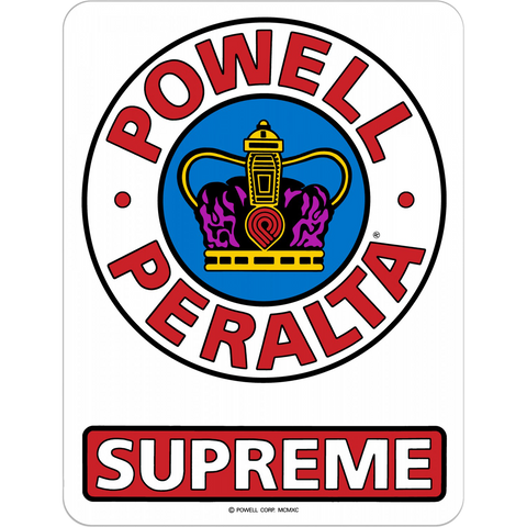"Powell Peralta Supreme Og 3.5"" Decal Single"