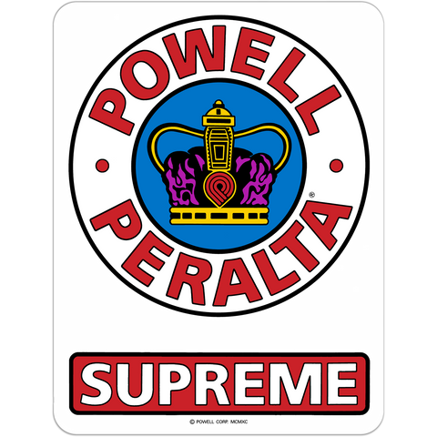 "Powell Peralta Supreme Og 6"" Decal Single"