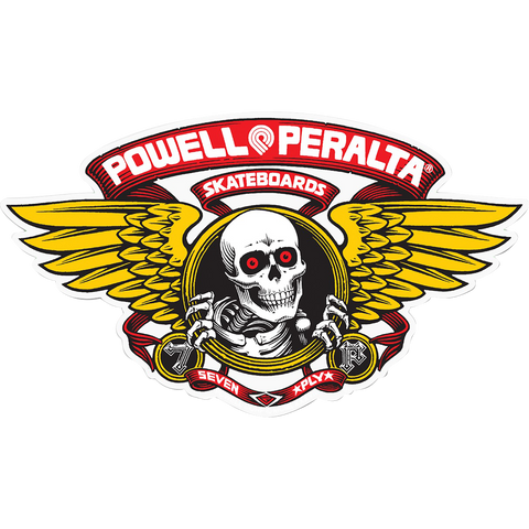 Powell Peralta Winged Ripper Og Oval Decal Red