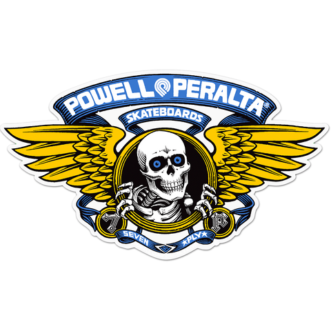"Powell Peralta Winged Ripper Die-Cut 5"" Blue Decal"