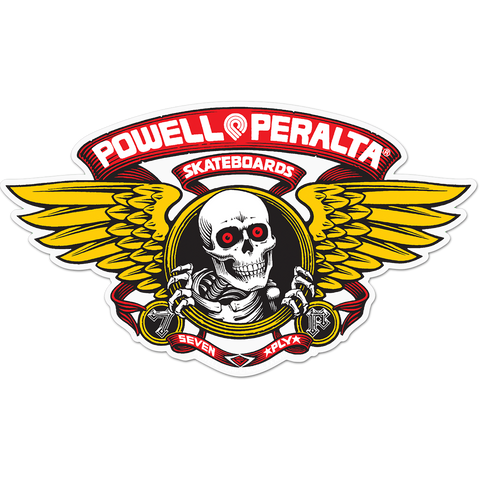 "Powell Peralta Winged Ripper Die-Cut 5"" Red Decal"
