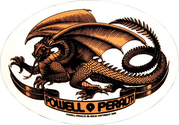 Powell Peralta Oval Dragon Decal Single |Universo Extremo Boards Skate & Surf